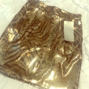 Zara sequined mini skirt